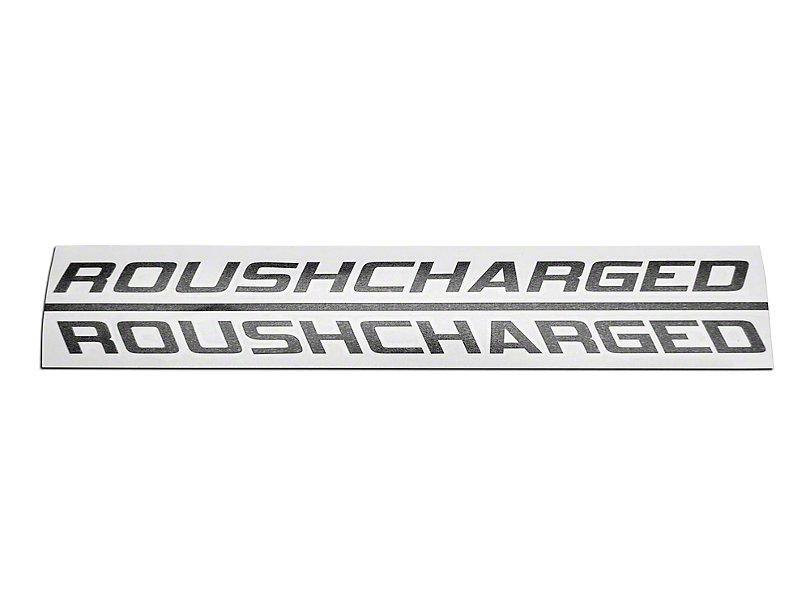 Roush Decals, Matte Black, ROUSHcharged,