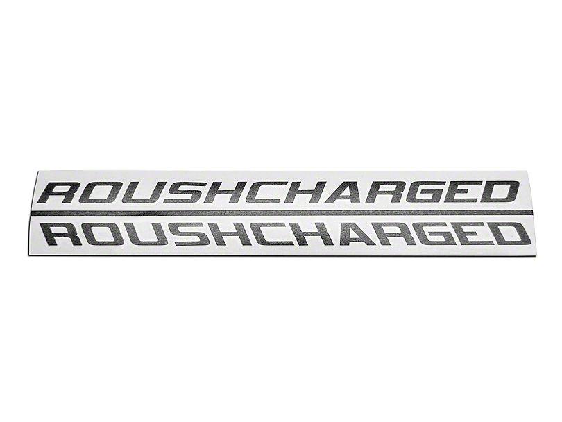Roush Decals, Matte Black, ROUSHcharged,