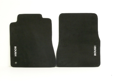 Roush Floor Mat Set, Front and Rear, Dk. Charcoal, 2005-2009 Mustang