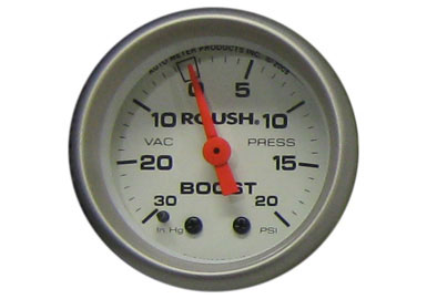 Roush Vacuum / Boost Gauge, 2 1/16 Mechanical, White Face,