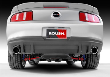 Roush Rear Valance Kit, Black Stipple Finish, 2010-2012 Mustang 3.7/4.6/5.0L