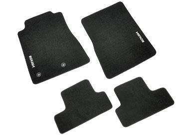 Roush Floor Mat Set, Front and Rear, Black, 2011-2014 Mustang