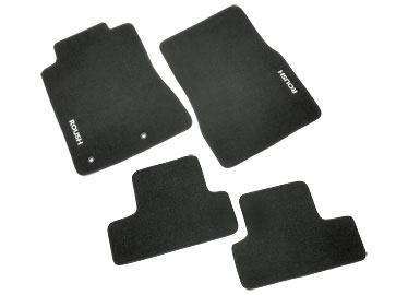 Roush Floor Mat Set, Front and Rear Dk. Charcoal, 2010 Mustang