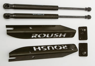 Roush Hood Strut Kit, 2005-2014 Mustang 3.7/4.0/4.6/5.0/5.4L