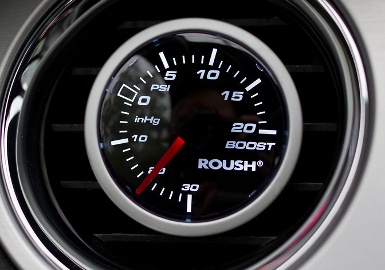 Roush Vacuum/Boost Gauge Kit, -30-20 PSI, LED,