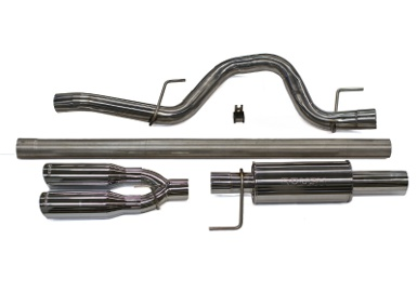 Roush Cat-Back Exhaust, Stainless rear dual tip, 2011-14 F-150 6.2, 5.0, 3.5
