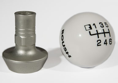 Roush Shift Knob, White Pool Ball, 6 Speed, Mustang, 2011-2013 Mustang 5.0L