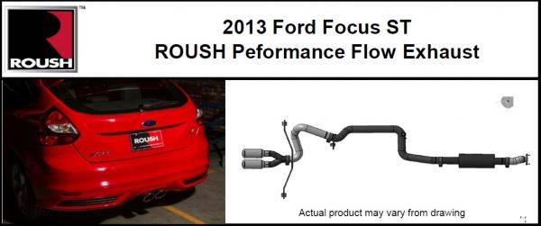 Roush performance flow exhaust system, 2012+ Ford Focus and Focus ST
