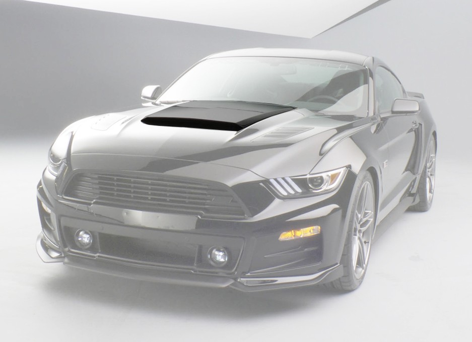 Roush Hood Scoop , 2015+ Mustang 5.0L / 3.7L / 2.3L - Black (UA)
