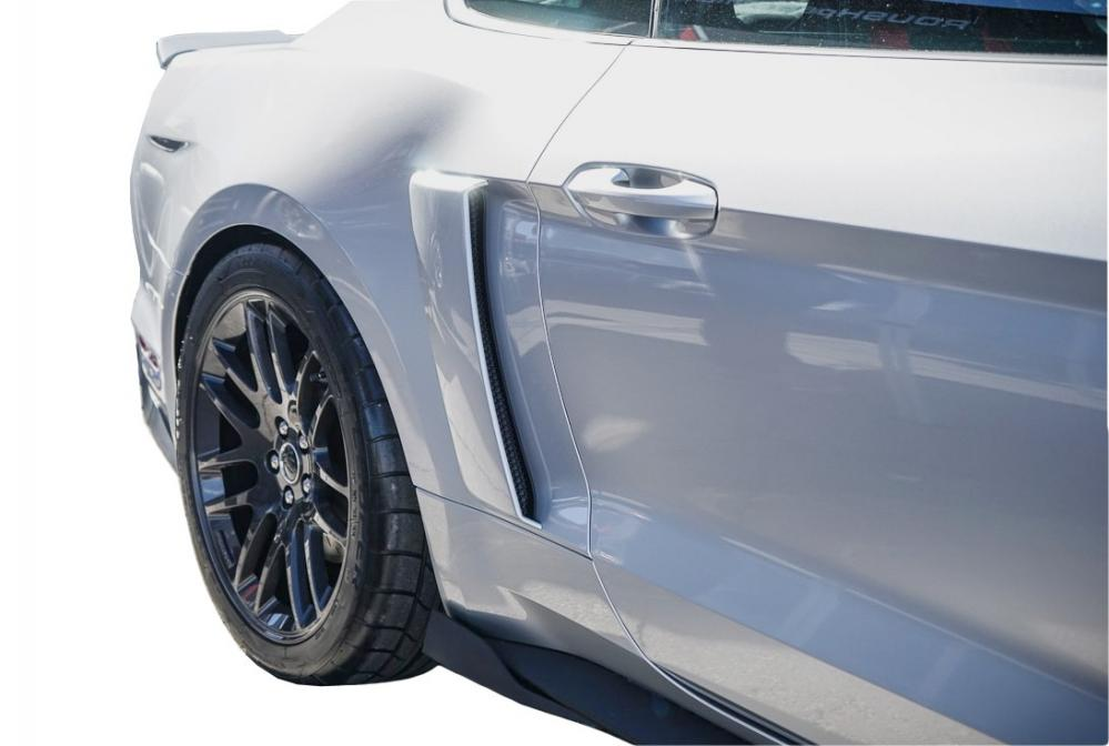 Roush Quarter Panel Side Scoops , 2015+ Mustang - Royal Crimson