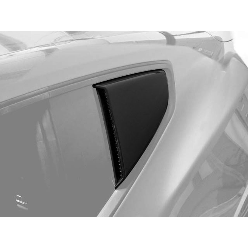 Roush Quarter Window Scoop (Painted Black), 2015+ Mustang 5.0L / 3.7L / 2.3L