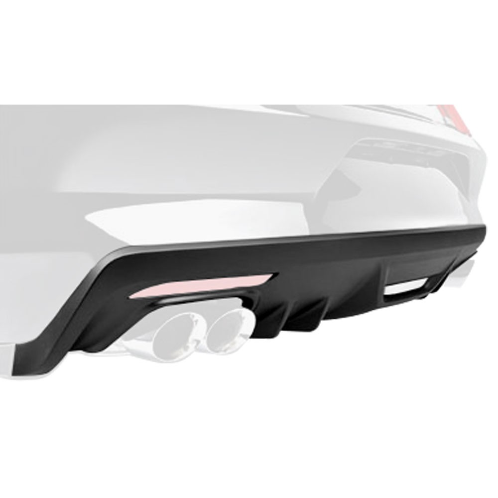 Roush Rear Fascia Valance (RAW - Black), 2015+ Mustang 5.0L / 2.3L