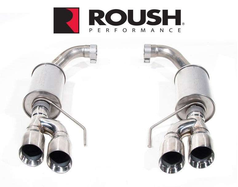 Roush Axleback Exhaust system, 2018+ Mustang GT dual tips