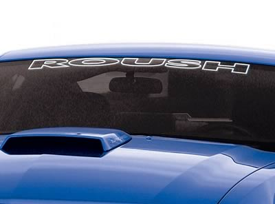 Roush Windshield Banner, Silver, 1994-2013 Mustang