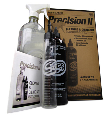 S and B Filter, Precision Cleaning and Oil Kit, large bottles, (Blue Color)
