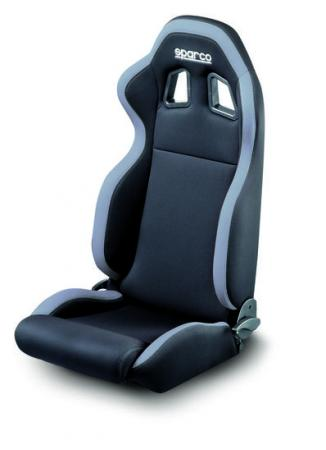 Sparco R100 Street Race Recliner seat, black w/ grey cloth