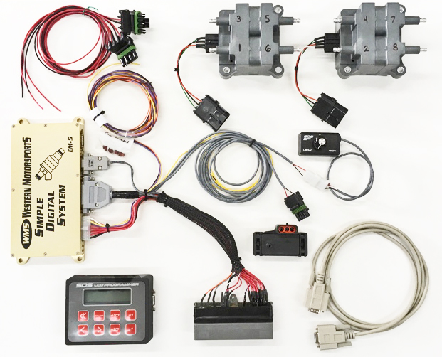 simple digital system sds from western motorsports wms sds plug in system 4 6 5 4 modular 2v 4v engines
