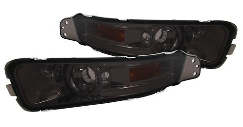 Front bumper parking lights, smoked, 2005 - 2009 Mustang