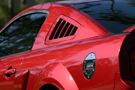 SilverHorse Racing Flush Mount Lexan Louver, 2010+ Mustang