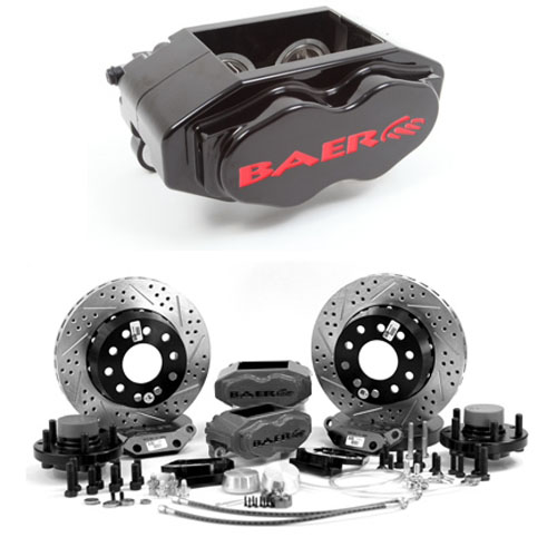 Baer SS4+ 13, Rear, 1998-2002 Chevrolet Camaro ,S4 Black