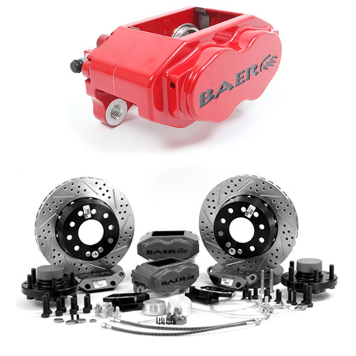 Baer SS4+ 13, Rear, 1998-2002 Chevrolet Camaro ,S4 Red