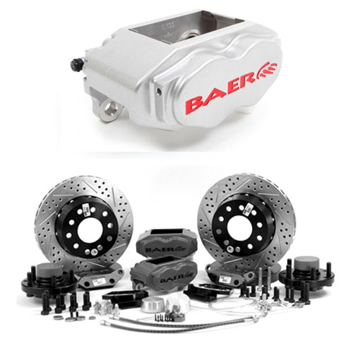 Baer SS4+ 11, Rear, - General Fit Mopar Dana 60 and 8.75 ,S4 Silver