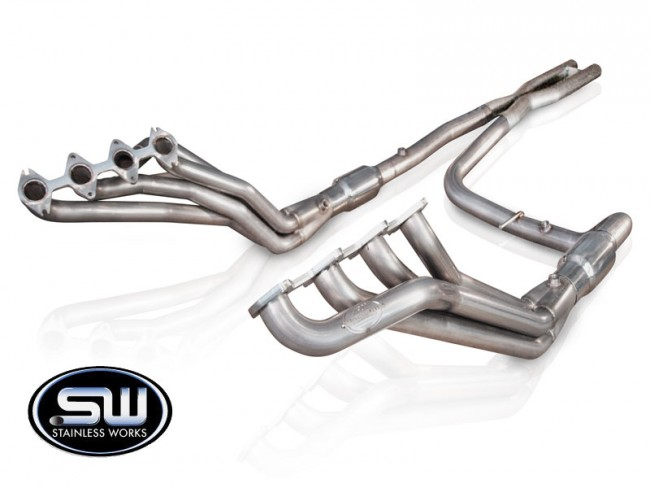 Stainless Works Ford F-150 Headers 2004-08 Headers: Catted X-Pipe