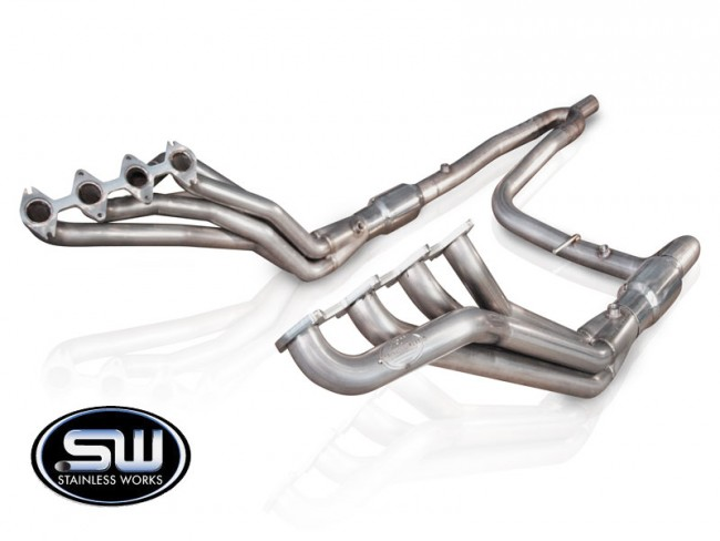 Stainless Works Ford F-150 Headers 2004-08 Headers: Catted Y-Pipe