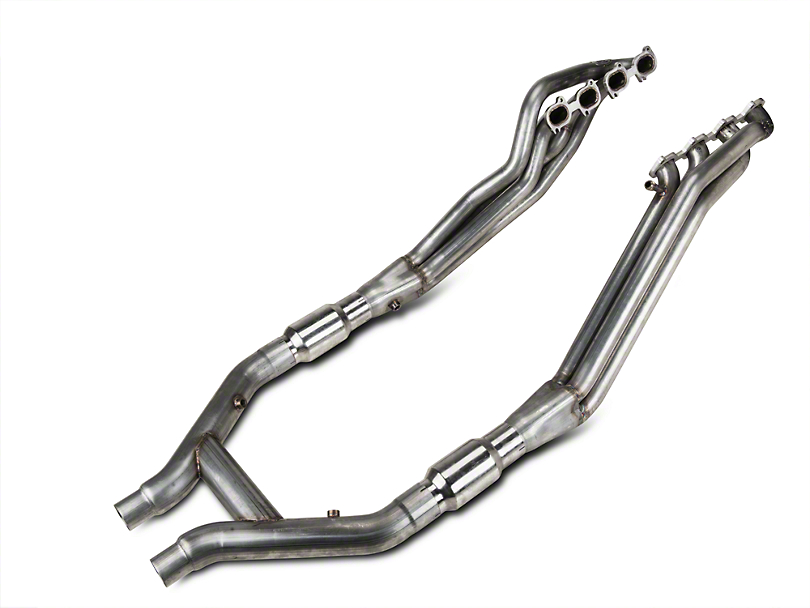 Stainless Works Ford Shelby GT500 2007-10 Headers: Catted H-Pipe