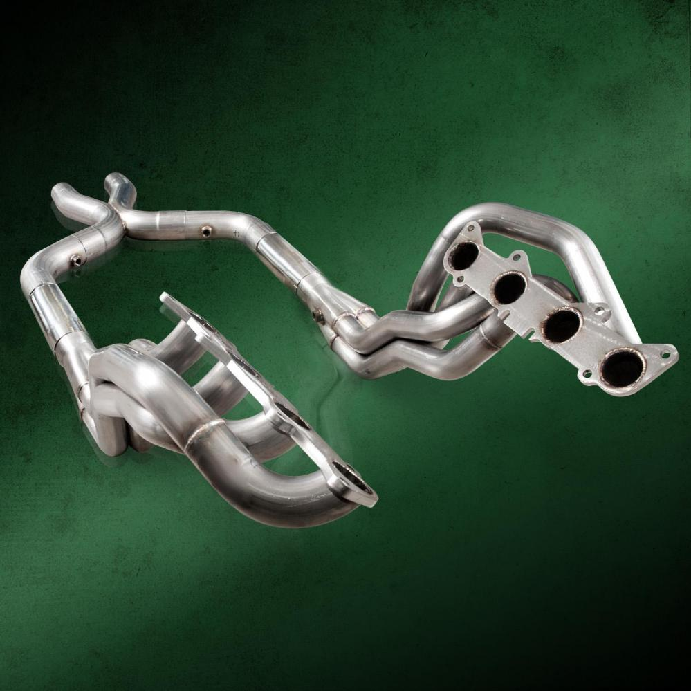 Stainless Works SP Ford Mustang GT 2011-14 Headers: 1-7/8 with Catted X-Pipe