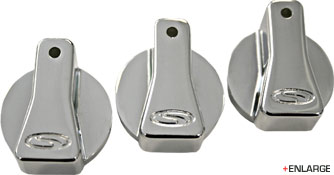 Steeda Billet A/C knobs 87-89 Mustang machined finish
