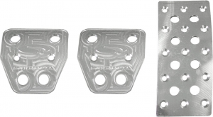 Steeda Billet Aluminum Pedal covers, 2pc Automatic, 2005+ Mustang