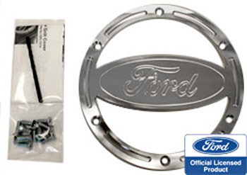 Steeda Billet Speaker covers, Ford logo, 2005-09 Mustang