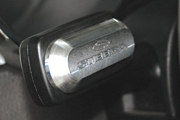 Steeda Billet Turn Signal Cover, Steeda Logo, 2005-09 Mustang