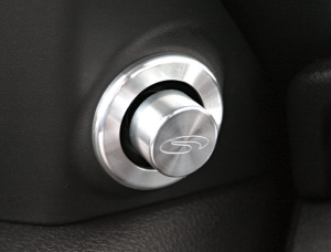 Steeda Billet Side Mirror Button and Bezel, 2005-09 Mustang