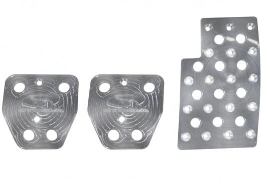 Steeda Heel / Toe pedal kit, billet aluminum, 2015+ Mustang