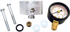 Steeda Fuel Pressure Port Block w/ gauge, 05-10 Mustang GT