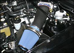 Steeda Cold air intake, black plastic, 2007 - 2009 GT500
