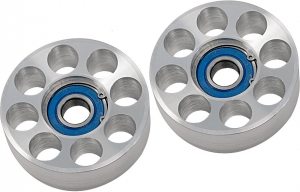 Steeda Billet Idler pulley kit, 2pce, 05-10 Mustang