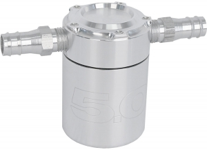 Steeda Oil Separator, Billet with 5.0 logo, 79-14 Mustang