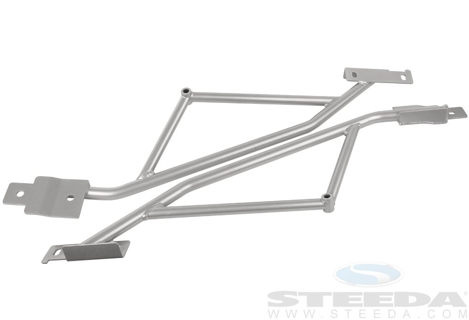 Steeda IRS subframe support braces, 2015+ Mustang
