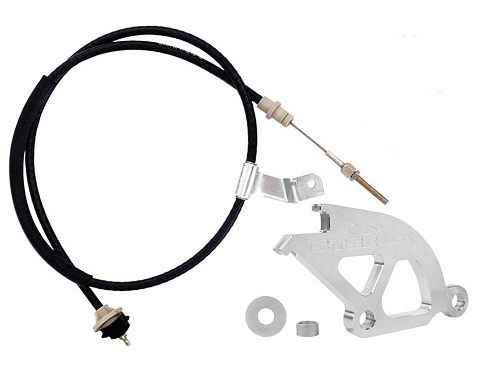 Steeda Double hook clutch quadrant and cable kit, 79-93 Mustang