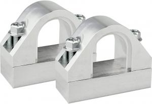 Steeda sway bar mount, front, billet aluminum, 87-93 Mustang