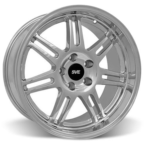 SVE 10th Anniversary Wheel, 17x9 Chrome, 1994-2004 Mustang 5 lug