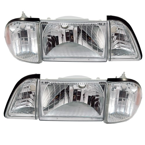 SVE Ultra Clear Stock Replacement Headlight kit, 6 lights, 1987-93 Mustang