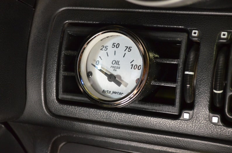Angled Center Vent Gauge Pod for 2 1/16\