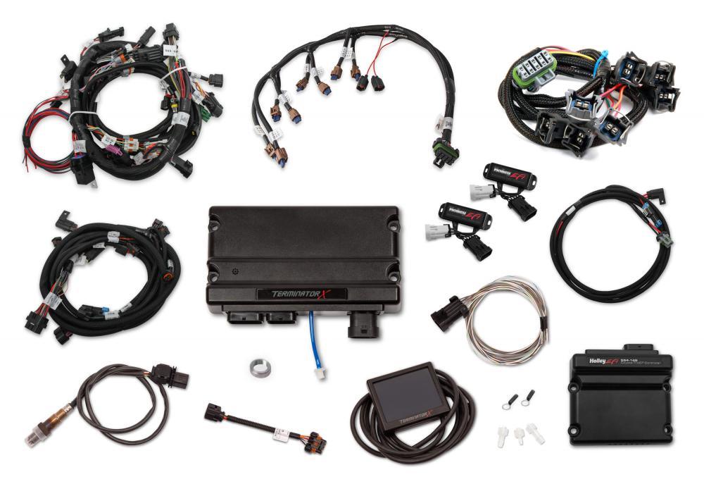Holley Terminator X EFI, 15.5-17 Coyote 5.0 VVT EV6 inj, DBW, Trans control