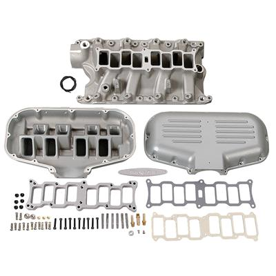 TFS R Series Intake, box style short runner, silver, 5.8 / 351W