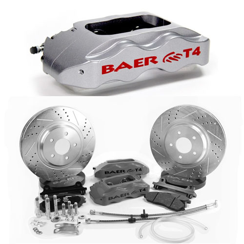 BAER TRACK-4 13 Silver, front, 78-88 GM G-Body, 82-95 S10