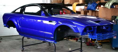 Candy Blue Car Paint